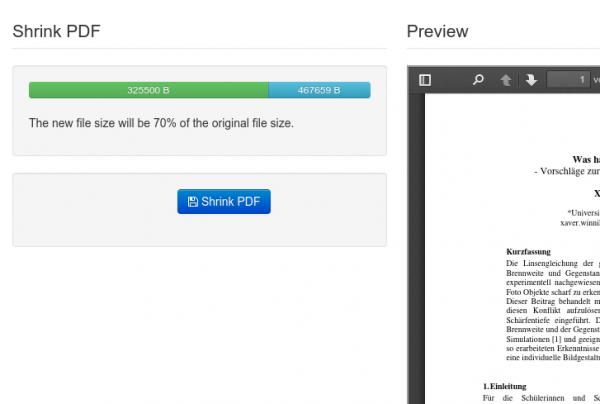 Shrink PDF document